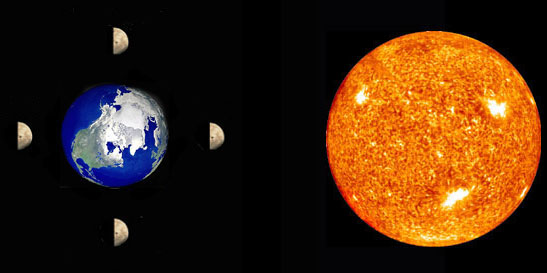 earth-sun and moon - photo #47