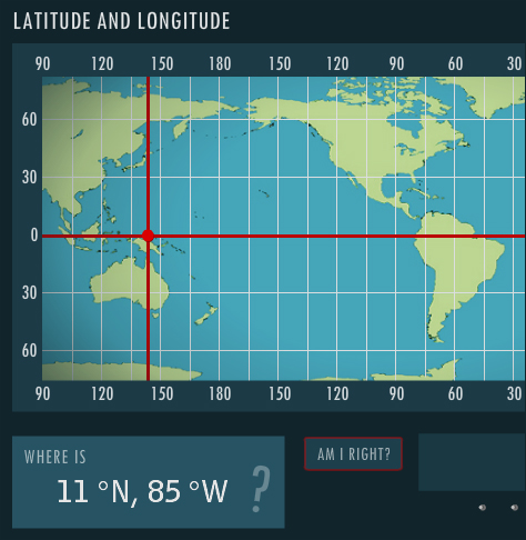 Latitude and Longitude - interactive skill builder