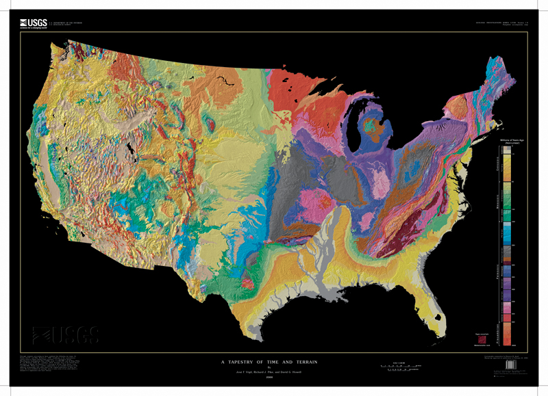 Earthguide maps Geologic map US