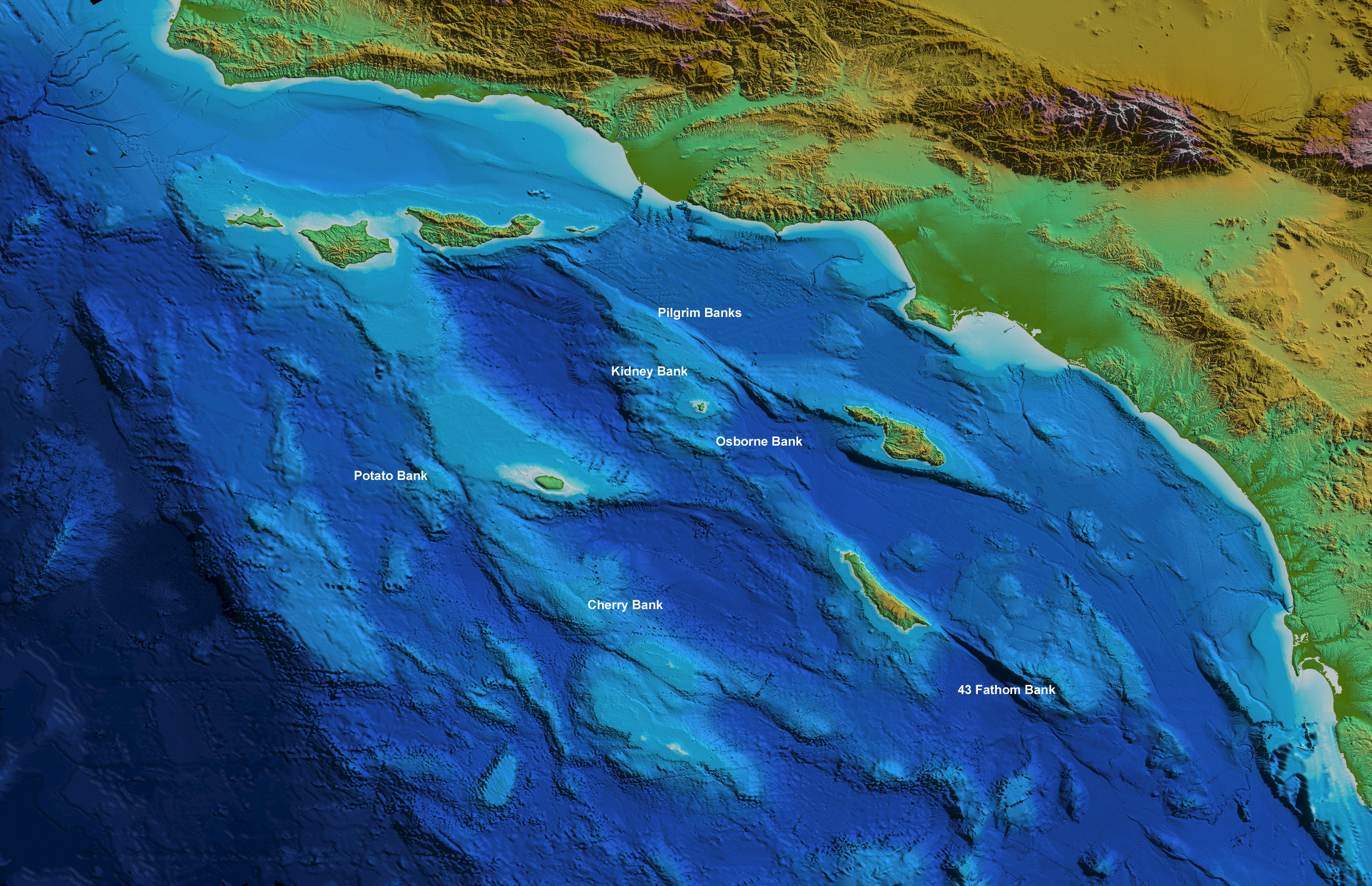 Earthguide Online Classroom Surface Relief Map Southern - Rivers in southern ca us map